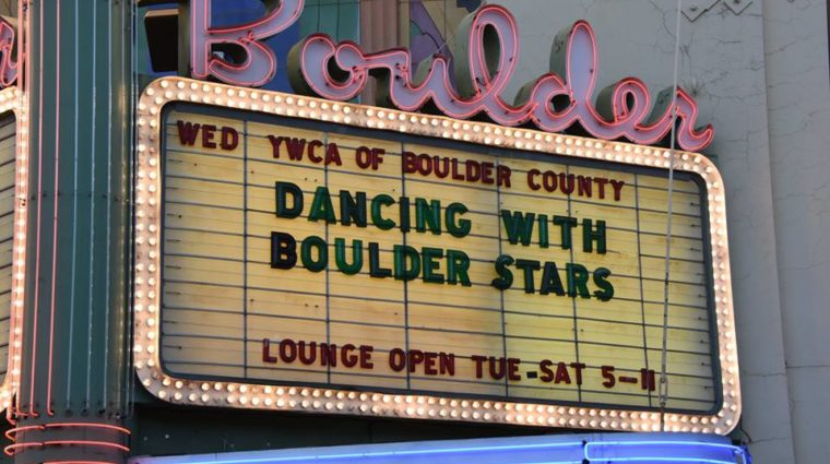 Boulder Theater sign reading