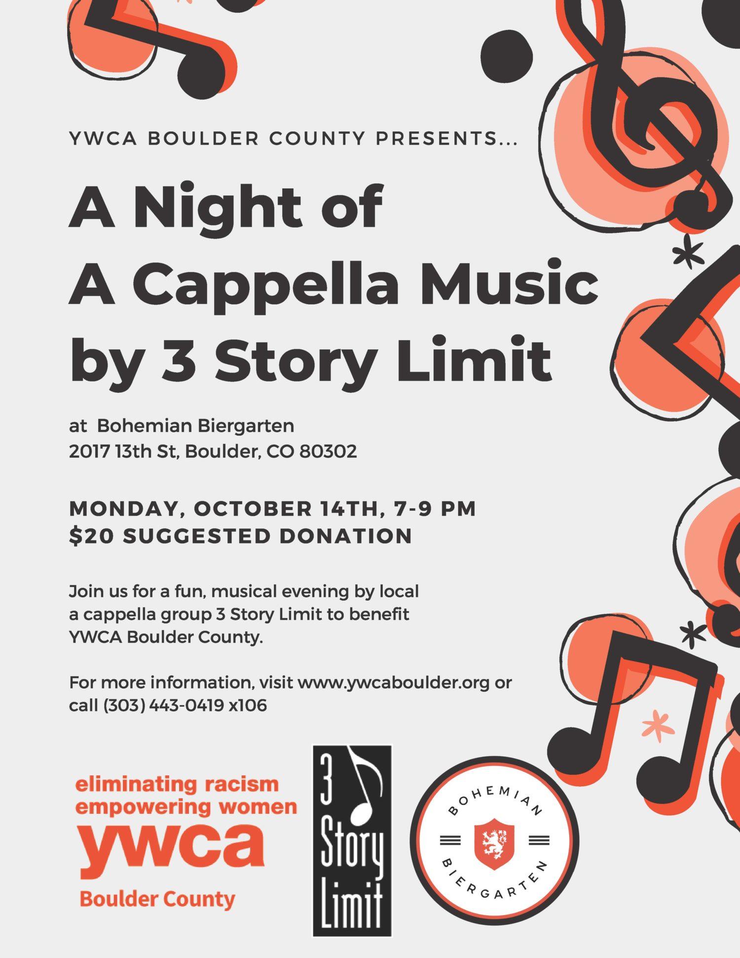A Night of A Capella Music by 3 Story Limit @ Bohemian Biergarten