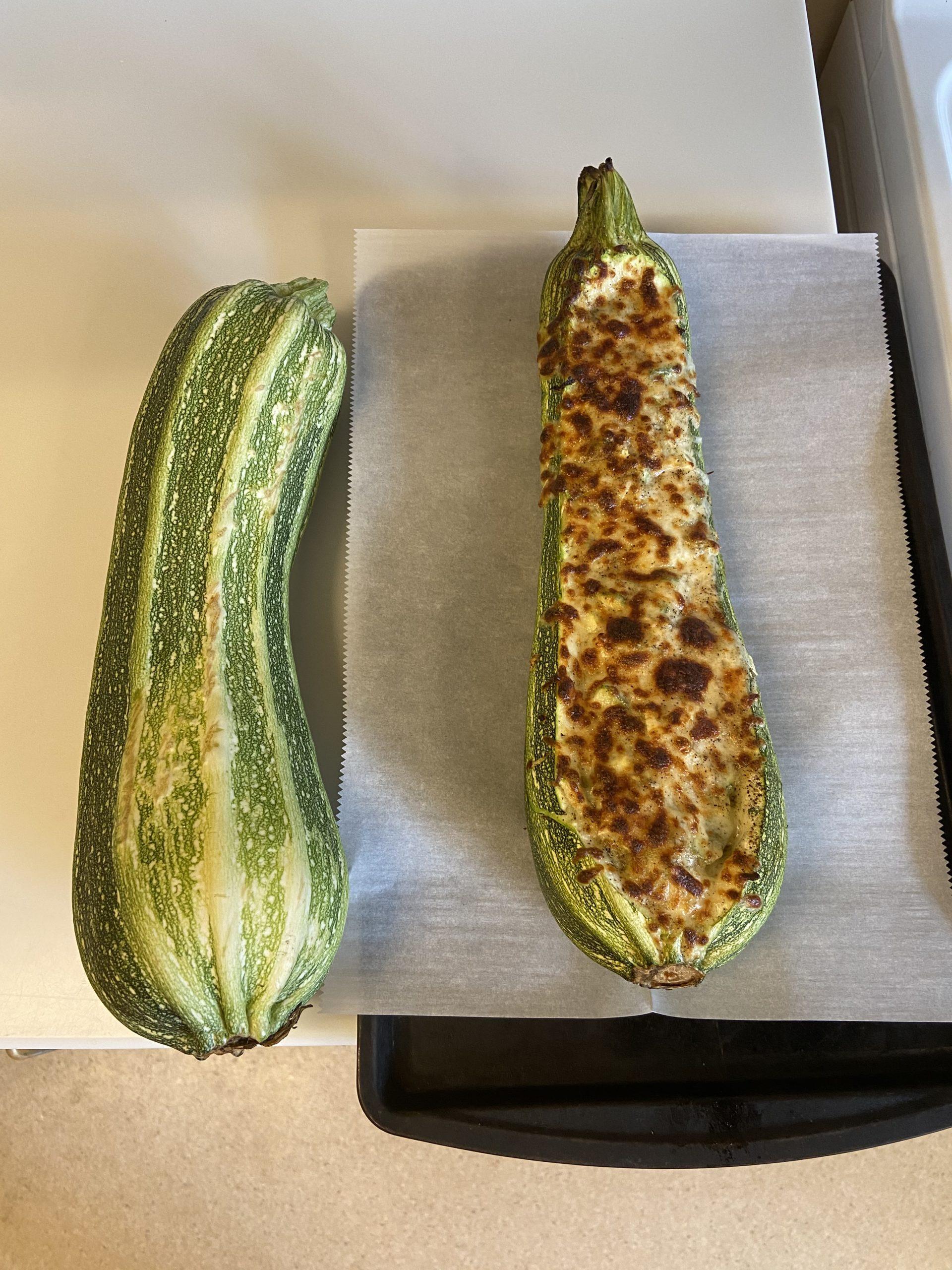 baked zucchini boat