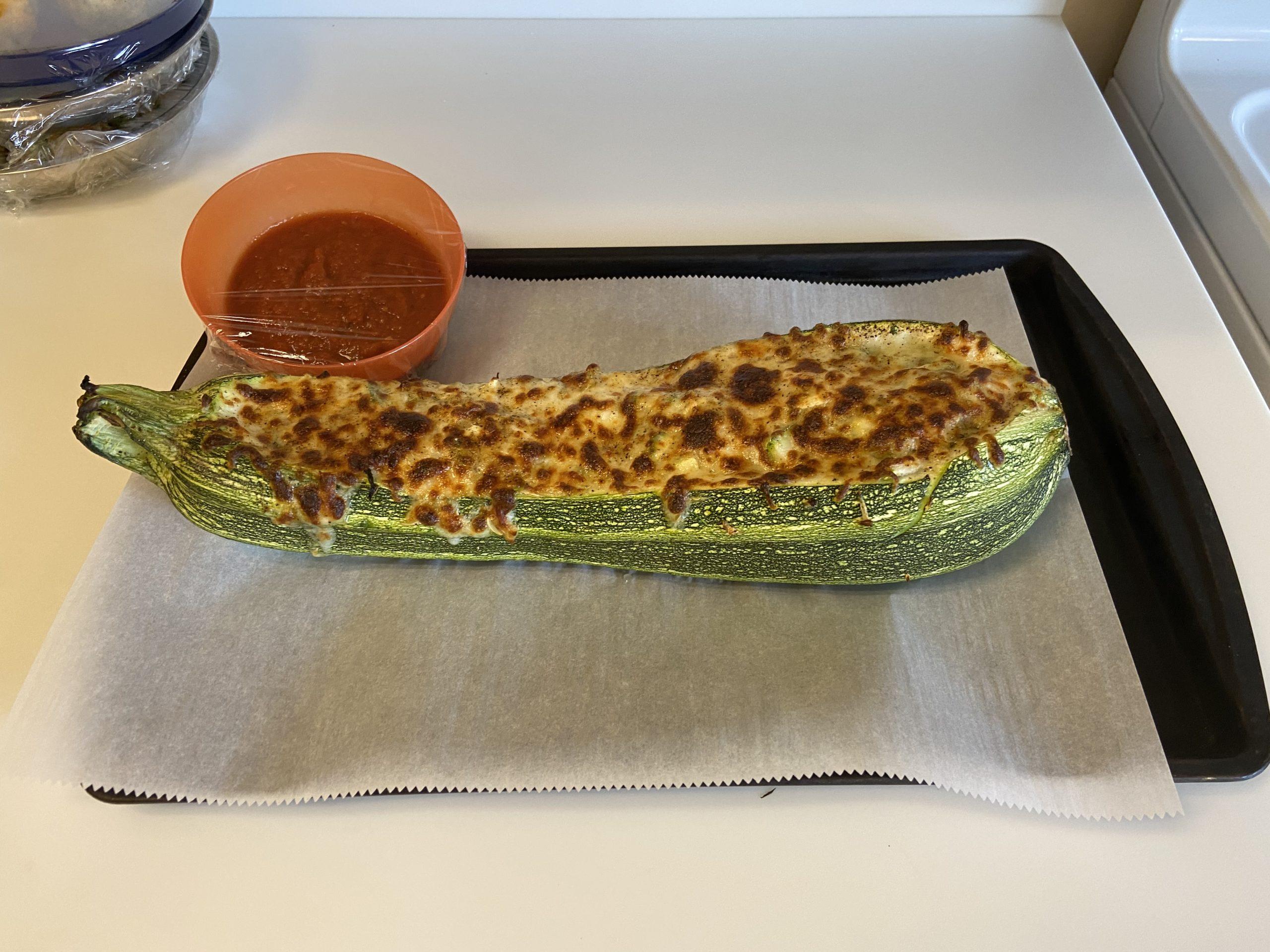 baked zucchini with marinara