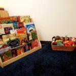 Bookshelves in new classroom