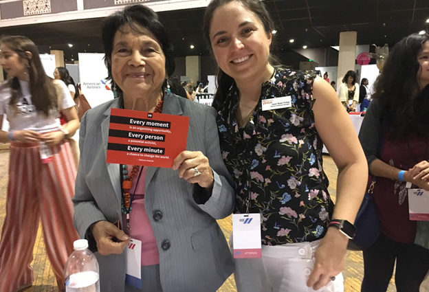 Dolores Huerta and YWCA USA staff member