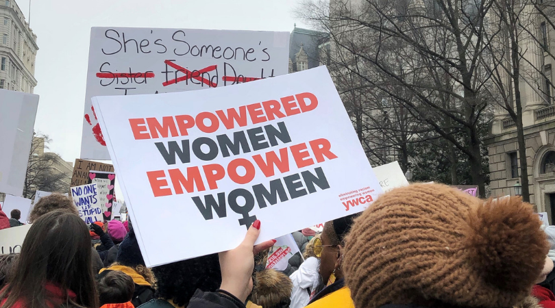Empower Women sign at Womxn's March
