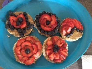 bagels with fruit on top